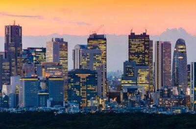 Cuadro Tokyo Skyline en el crepúsculo