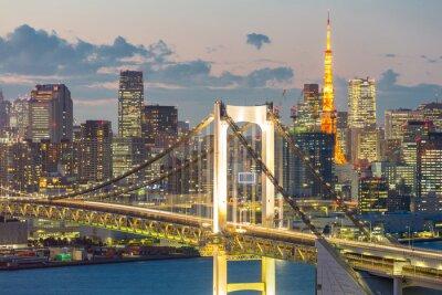 Cuadro Tokyo Tower Bridge Rainbow
