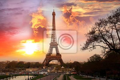 Cuadro Torre Eiffel con el parque en París, Francia