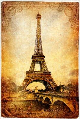 Torre Eiffel - imagen retro
