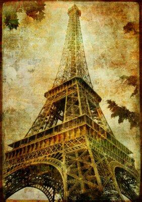 Torre Eiffel - tarjeta de cosecha