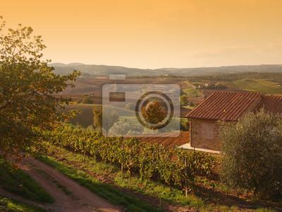 Toscana Paisaje de otoño