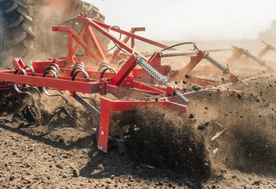 Cuadro Tractor, preparando, tierra