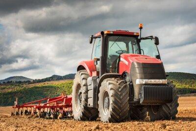 Cuadro Tractor rojo.