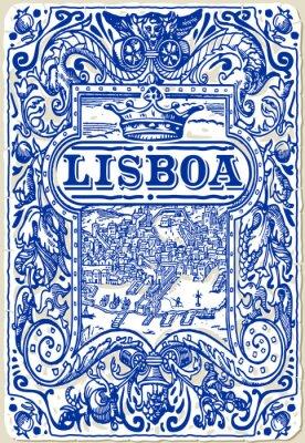 Cuadro Tradicional Azulejos Azulejos Lisboa, Portugal