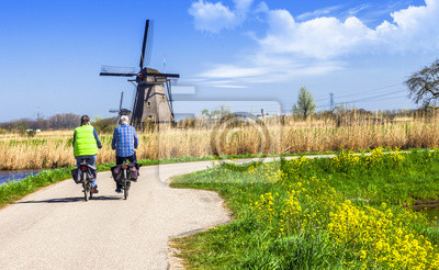 Tradicional de Holanda. Molinos de viento de Kinderdijk