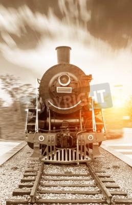 Cuadro Tren de vapor negro vintage vapor
