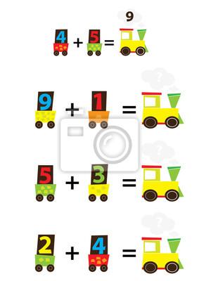 Trenes Juego De Matematicas Para Ninos Anadir Pinturas Para La