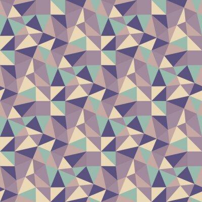 Cuadro Triángulos de fondo geométrico. Mosaico.