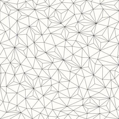 Cuadro Triángulos de fondo, patrón, diseño de la línea
