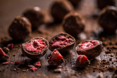 Cuadro Trufas de chocolate oscuro
