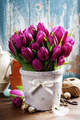 Cuadro Tulipanes de primavera