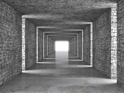 Cuadro túnel abstracto