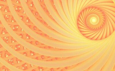 Cuadro Túnel abstracto fantasía remolino con líneas melocotón tiernos