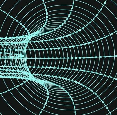 Cuadro Túnel o tubo abstracto tridimensional