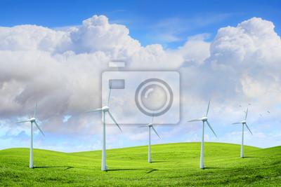 turbinas de viento blanco moderno