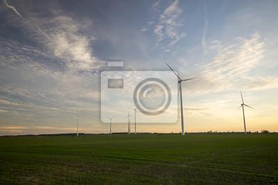 Turbiny wiatrowe na polach Zboża, Niemcy