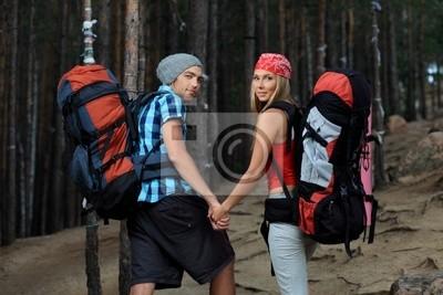 turistas caminando