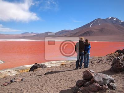 Turistas en la Laguna Colorada