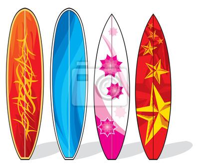 Un conjunto de tablas de surf pinturas para la pared • cuadros ...