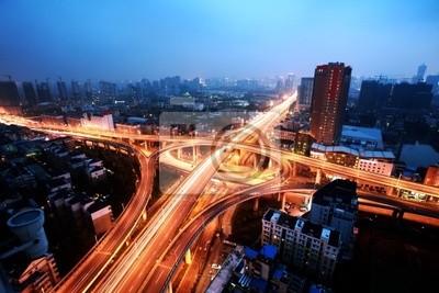 Cuadro Un cruce de carreteras en Hangzhou