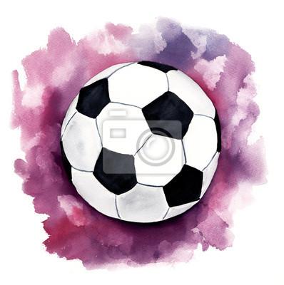 Un dibujo de un (fútbol) pelota de fútbol pinturas para la pared ... bfd5da782c37d