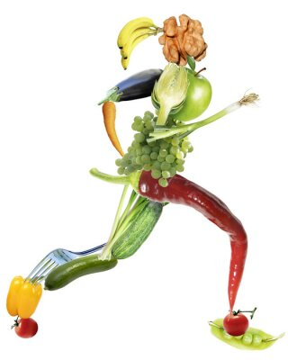 Cuadro Una alimentación sana y el deporte