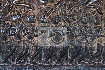 Una Estatua bajorrelieve del Khmer Cultura