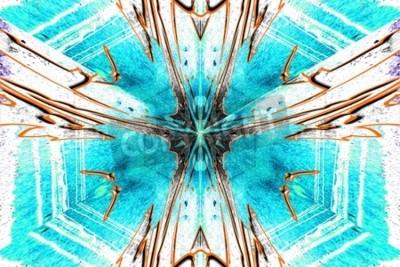 Cuadro Una estrella abstracción simétrica