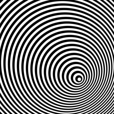 Cuadro Una ilusión óptica blanco y negro