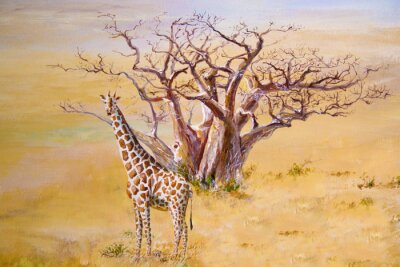 Cuadro Una jirafa, Kenia