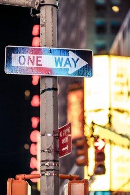 Cuadro Una manera de Nueva York la señal de tráfico