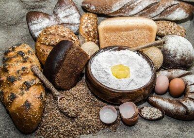 Cuadro Una variedad de productos de panadería