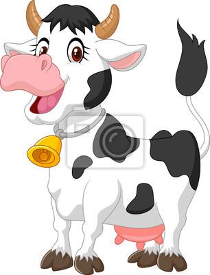 Vaca feliz de dibujos animados pinturas para la pared • cuadros ...