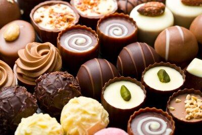 Cuadro Variedad chocolate pralines