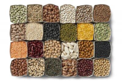 Cuadro Variedad de granos y lentejas secas