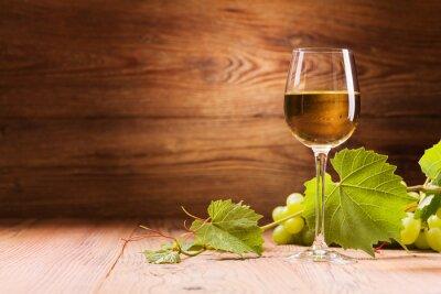Cuadro Vaso de vino blanco.