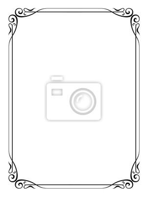 Vector caligrafía ornamentales marco decorativo pinturas para la ...