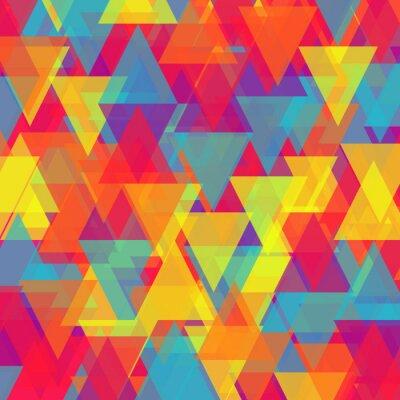 Cuadro Vector de fondo abstracto triángulo