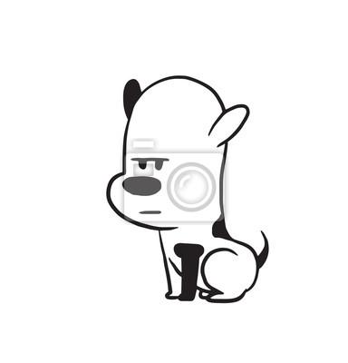 Vector De Imagen De Dibujos Animados De Un Perro Negro Gracioso