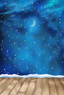 Cuadro Vector de invierno Nubes nocturnas Antecedentes