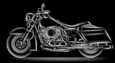 Cuadro Vector de la motocicleta