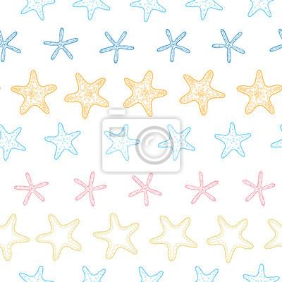 Vector de las estrellas de mar de línea colorido marco de arte ...
