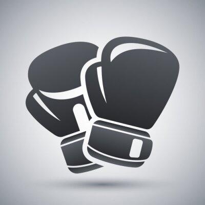 Cuadro Vector icono de los guantes de boxeo