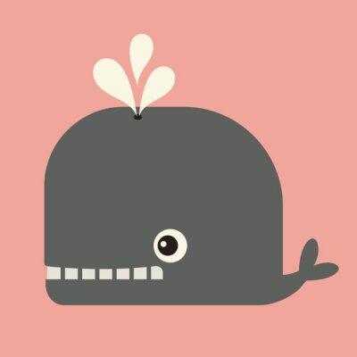 Cuadro Vector lindo de la ballena
