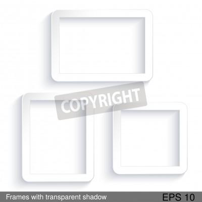 Vector rectángulo marcos blancos con sombra transparente - eps ...