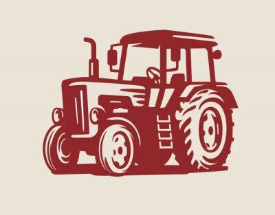 Cuadro vector Símbolo del tractor