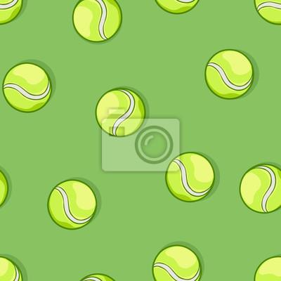 Vector sin patrón de pelotas de tenis en fondo verde pinturas para ... ff7938a6dd148