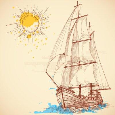 Cuadro Vector velero
