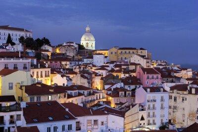 Cuadro Ver en el casco antiguo de Lisboa en Portugal